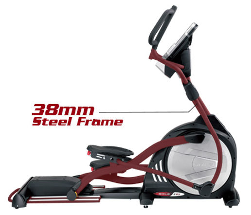 Sole E98 Light Commerial Elliptical Crosstrainer showing heavy duty frame