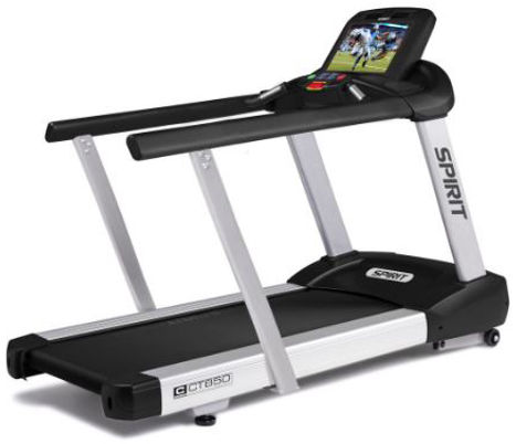 Spirit CT850ENT Treadmill with extended handrails