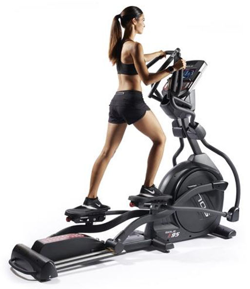 Sole E95 Elliptical Crosstrainer with female model
