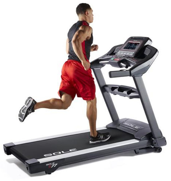 Sole S77 Treadmill with male model running