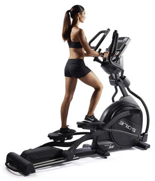 Sole E98 Light Commerial Elliptical Crosstrainer with female model
