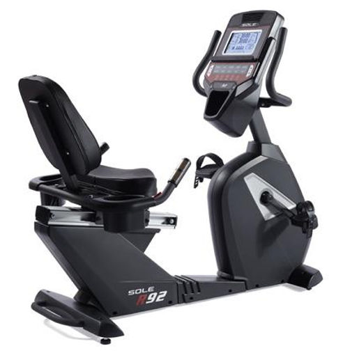 Sole R92 Recumbent Bike showing easy access and robust frame