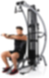 Inspire M1 home gym in upright position
