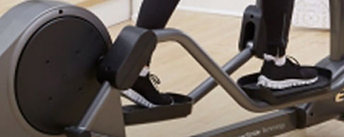 Life Fitness E1 elliptical crosstrainer in use