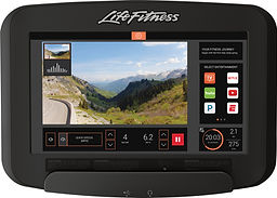 Life Fitness Platinum Club recumbent Lifecycle bike SE3 tablet