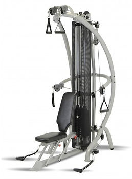 Inspire M1 Gym with seat in upright position