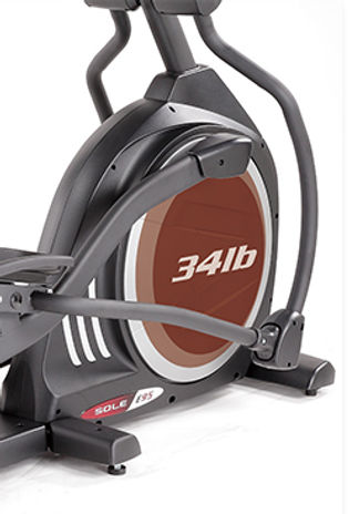 Sole E95 Elliptical Crosstrainer heavy flywheel for a smoother workout