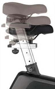 Sole LCB Upright Bike verticl and horizontal seat adjustments
