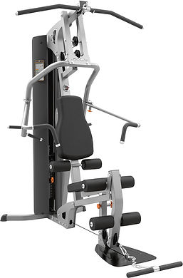 Life Fitness G2 compact home gym with pec fly, bench press, leg unit and Lat Pulldown stations