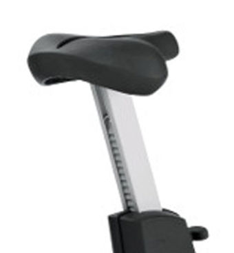 Life Fitness Club upright bike being saddle
