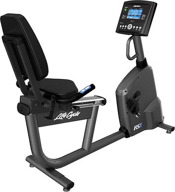 Life Fitness RS1 Recumbent Lifecycle back view