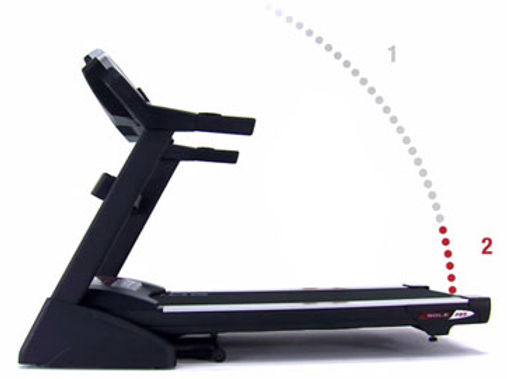 Sole F85 Treadmill folding mechanism
