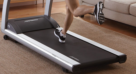 Size of Life Fitness T5 treadmill running deck