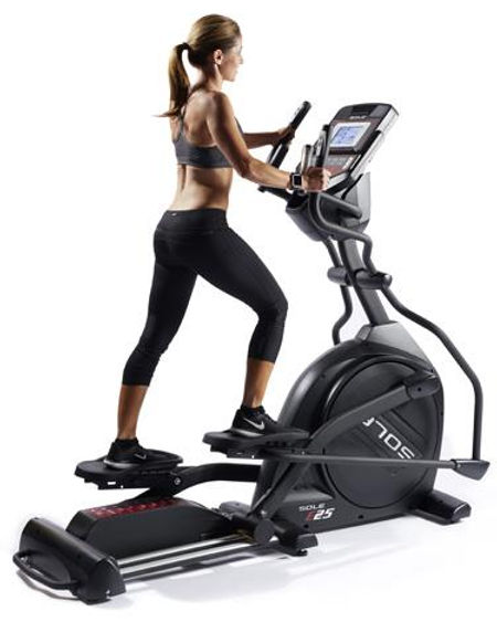 Sole E25 Ellptical Crosstrainer with female model