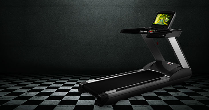 BH G799TVC treadmill in black room