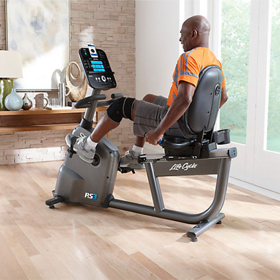 Life Fitness RS3 self generating Recumbent Lifecycle man using RS3