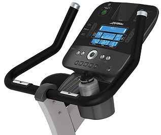 Life Fitness C3 self generating Lifecycle upright exercise bike Console and handle bars