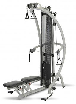 Inspire M1 Gym with seat in flat position