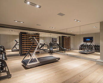 Technogym fitness quipment with mirros on all walls
