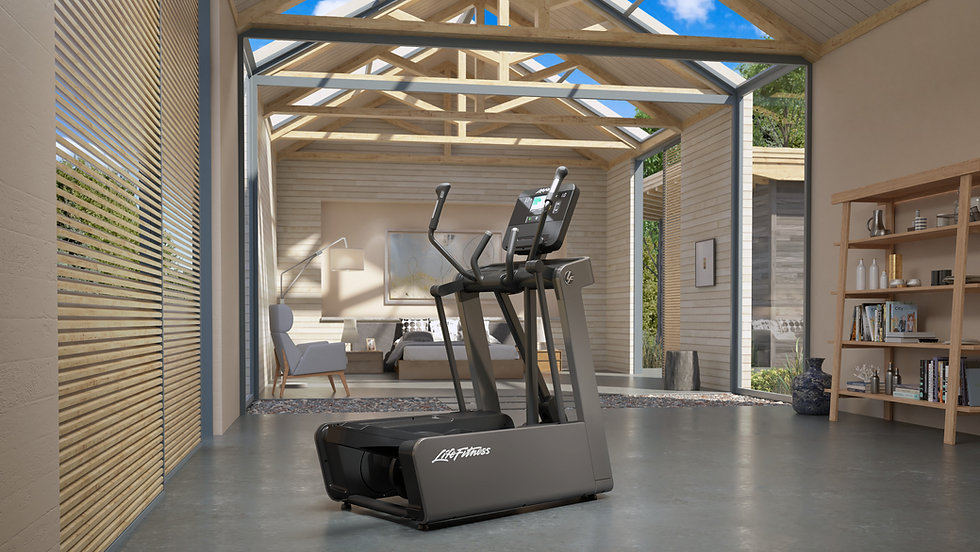 Life Fitness FS4 elliptical crosstrainer in wood cladded room