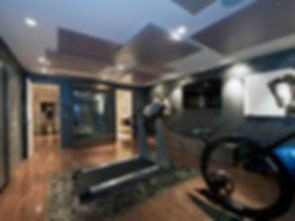 Stunning contemporary gym with high end fitness equipment