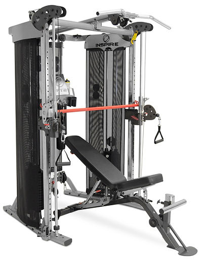 Inspire FT2 Functional Trainer and Smith Machine and optional SCS workout bench