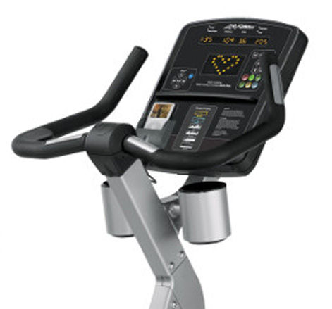 Life Fitness Club upright bike Console and handle bars