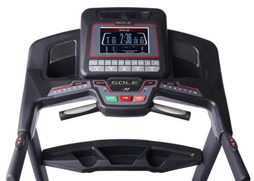 Sole S77 Treadmill Console, message centre and speed and incline keys