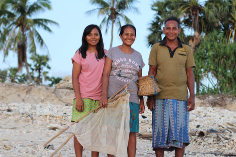 Rote Island, Indonesia. Marce (middle) w