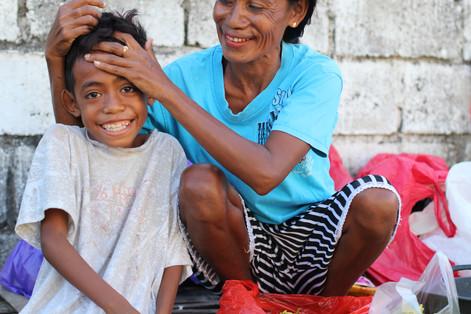 Kupang, Indonesia. Marni and her son Rio