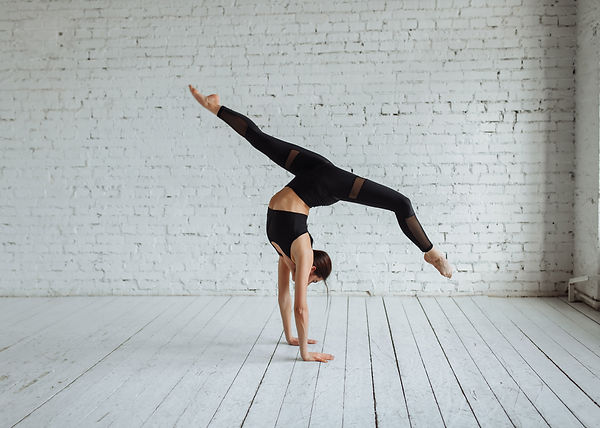 Beautiful young woman working out, yoga,