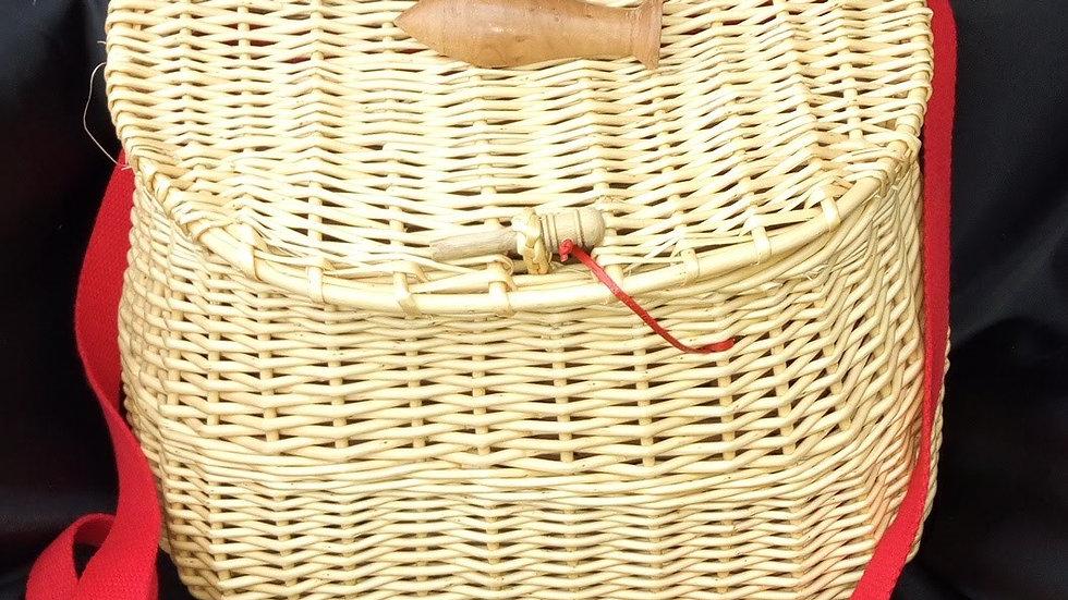 panier pêche blanc anse rouge