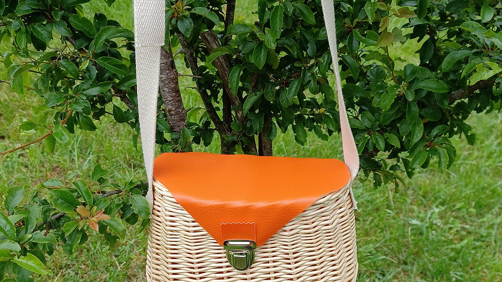 Petit panier besace orange