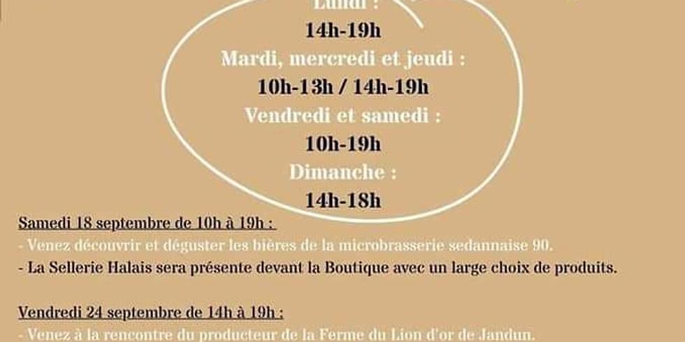 Boutique Ardennaise  Charleville Mézières  exposition de vannerie
