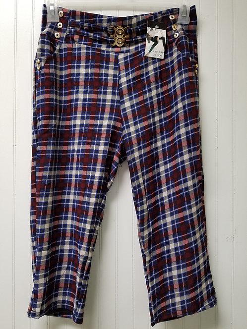 IAmShe Designer Plaid Capri Leggings (XL/XXL)