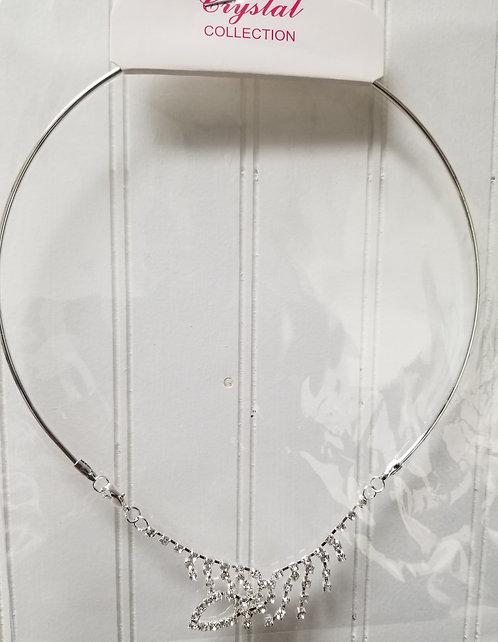IAmShe Crown Designer Choker Necklace W/Earrings