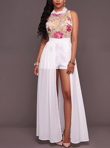 IAmShe Halter Style Mini Romper Dress