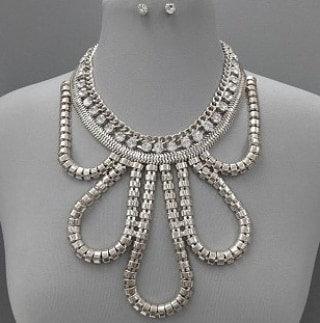 IAmShe Statement Necklace Set & Earrings