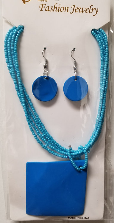 IAmShe Fashion Beaded Necklaces W/Earrings