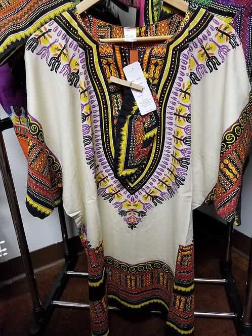 IAmShe Kingsized Traditional Dashiki w/Kofia Creme