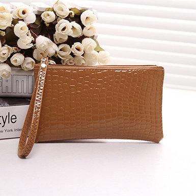 IAmShe Women's Zipped Crocodile Clutch Mini Bag