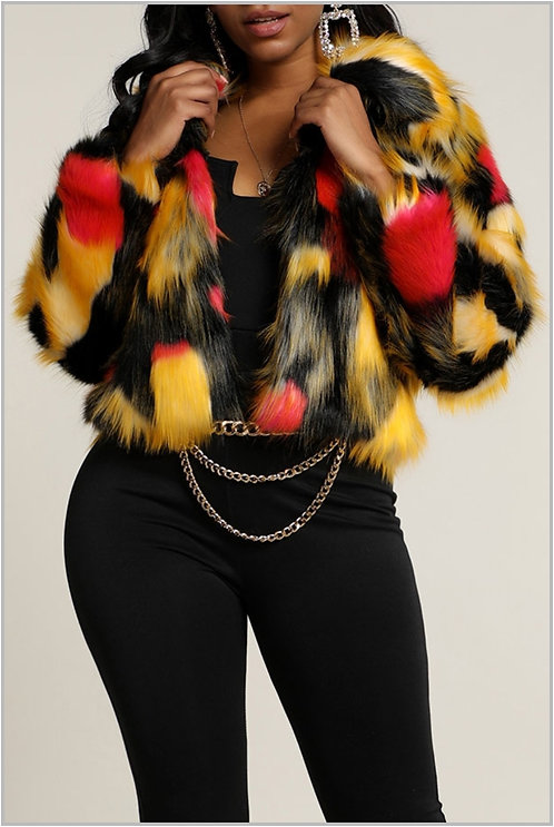 PREORDER ONLY IAmShe Multicolor Fur Coat