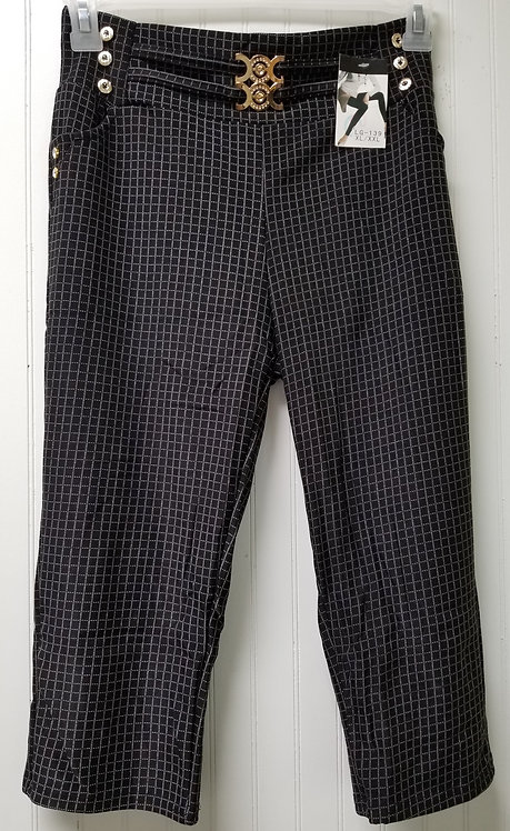 IAmShe Designer Plaid Capri Leggings (XL/XXL)