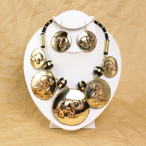 IAmShe Elephant Totam Necklace & Earring Set