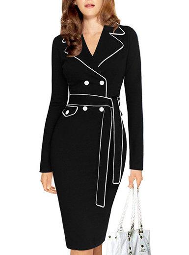 IAmShe Midi Dress - Double Breasted