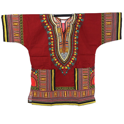 IAmShe Traditional Dashiki Maroon