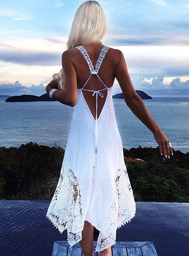 IAmShe Women's Handkerchief Style Midi Dress