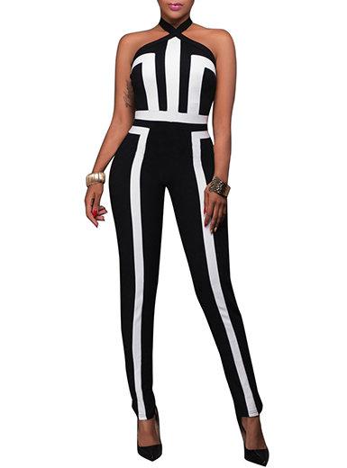 IAmShe  Sleeveless / Modern Print Jumpsuit
