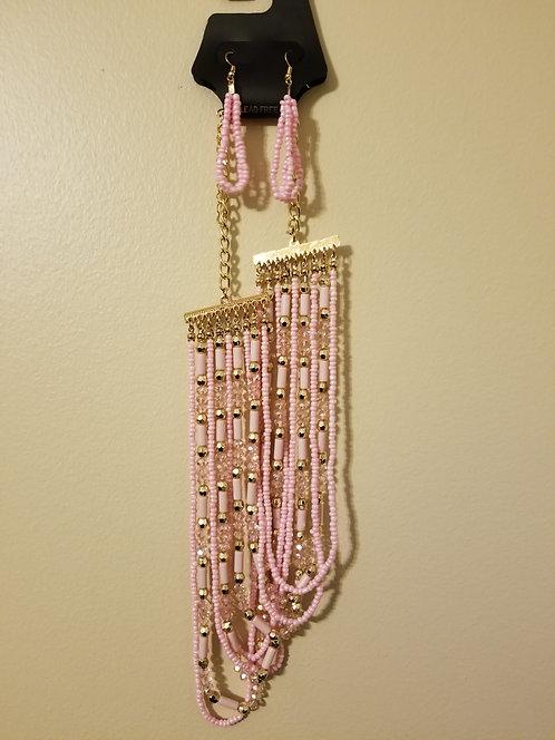 IAmShe Beaded Necklace W/Earrings
