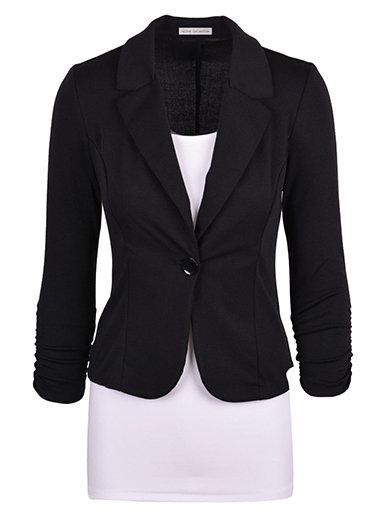 IAmShe Womens Blazer - One Button  Two Lapels  Office Wear